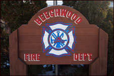 Beechwood Fire Dept. sign